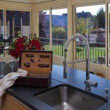 Créer un espace cuisine dans une véranda